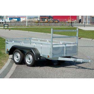 Twins Trailers open bakwagen met aluminium borden 257x132cm 750kg ongeremd