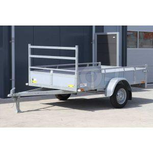 Twins Trailers open aanhangwagen fins betonplex 257x132cm 750kg ongeremd