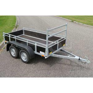 Twins Trailers tandemas open aanhangwagen 307x157cm 750kg ongeremd