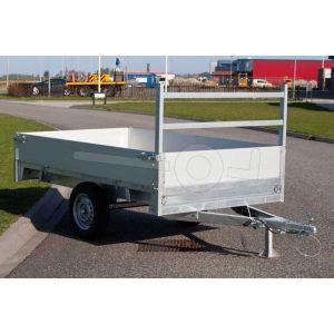 Twins Trailers enkelas plateauwagen 257x157cm 750kg ongeremd
