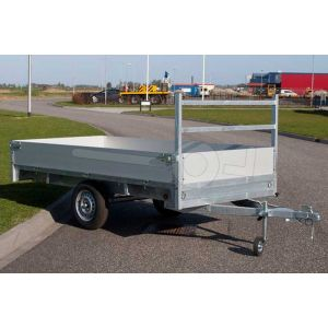 Plateauwagen Twins Trailers enkelas 307x157cm 750kg ongeremd