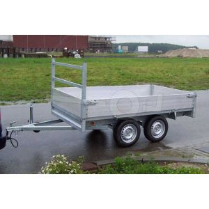 Plateauwagen Twins Trailers tandemas 307x157cm 750kg ongeremd