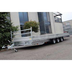 Twins Trailers plateauwagen tridem 8 meter met 3 assen 807x227cm 3500kg