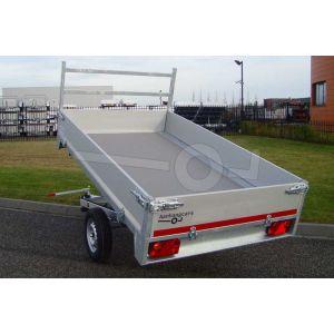 Twins Trailers enkelas achterwaartse kipper aanhangwagen 257x157cm 750kg ongeremd