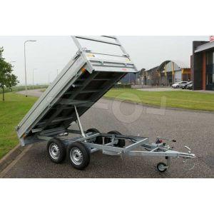 Twins Trailers tandemas achterwaartse kipper aanhangwagen 307x157cm 750kg ongeremd