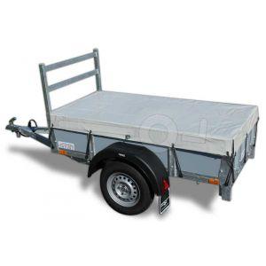 vlakzeil compleet, voor Twins Trailers bakwagen 150x100, grijs, ongemonteerd