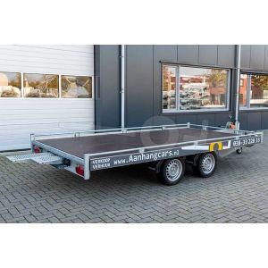 verhuur autotransporter vloermaat 406x200 netto laadvermogen 2000kg, (BE rijbewijs) 1 week