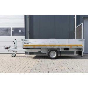 Eduard enkelas plateauwagen afmeting 260x150cm met 30cm borden, bruto laadvermogen 1000kg, laadvloerhoogte 56cm