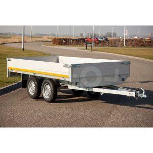 Eduard plateauwagen met 40cm borden, 310x160cm, bruto laadvermogen 750kg ongeremd, laadvloerhoogte 72cm