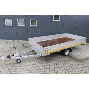 Eduard enkelas plateauwagen 310x160cm bruto laadvermogen 1000kg laadvloerhoogte 56cm