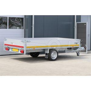 Eduard enkelas plateauwagen 310x160cm laadvermogen 1000 kg laadvloerhoogte 63 cm