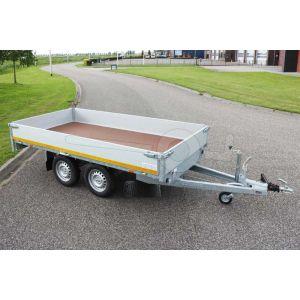 Eduard tandemas plateauwagen 310x160cm laadvloerhoogte 63cm bruto laadvermogen 2000kg