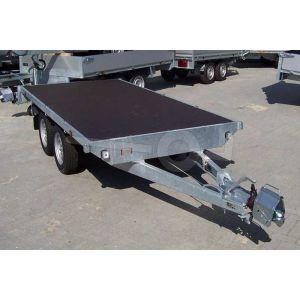 Eduard vlakke plateauwagen zonder laadborden 310x160cm laadvloerhoogte 72cm bruto laadvermogen 2000kg
