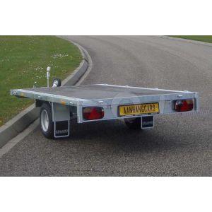 Eduard enkelas multitransporter zonder borden 260x150cm 750kg ongeremd lvh 63cm
