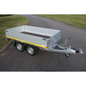 Eduard multitransporter 260x150cm 40cm aluminium borden 750kg tandemas geremd laadvloerhoogte 63cm