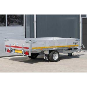 Eduard multitransporter enkelas 260x150cm 30cm aluminium borden 1500kg laadvloerhoogte 56cm