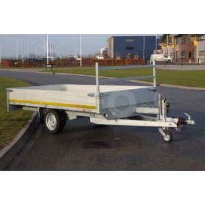 Eduard enkelas multitransporter met 40cm borden 310x160cm 750kg ongeremd lvh 72cm