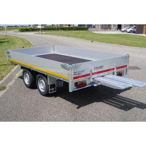 Eduard tandemas multitransporter met 40cm borden 310x160cm 750kg ongeremd lvh 63cm