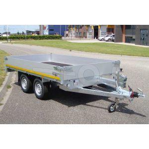 Eduard tandemas multitransporter met 40cm borden 310x160cm 750kg ongeremd lvh 72cm