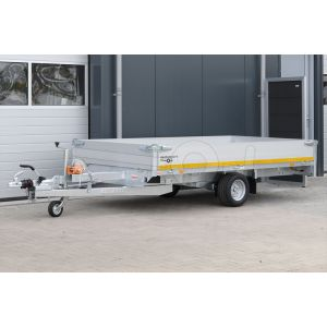 Eduard multitransporter enkelas 310x160cm 30cm aluminium borden 1500kg laadvloerhoogte 56cm