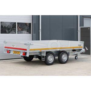 Eduard multitransporter tandemas 310x160cm 30cm aluminium borden 2700kg laadvloerhoogte 72cm