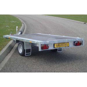Eduard enkelas multitransporter zonder borden 330x180cm 1500kg lvh 56cm