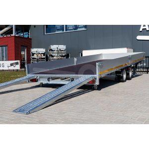 Door de kantelbare laadbak heeft de Eduard multitransporter 506x200cm bruto totaalgewicht 3500kg laadvloerhoogte 63cm een lage oprijhoek