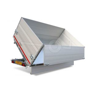 Opzetborden set 70cm (extra hoogte) bovenscharnierend 556x200cm, voor Eduard plateauwagen of multitransporter