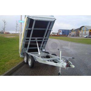 Eduard handmatig bediende kipper aanhangwagen 310x156cm 750kg ongeremd
