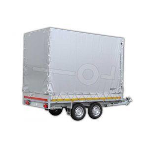 Standaard huifdoek voor plateauwagen 310x160, 220cm hoog (zonder frame) Kleur: 7500 grijs.