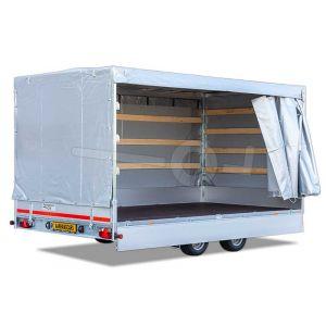 Schuifzeil huifdoek voor Eduard plateauwagen 310x160, 160cm hoog vanaf de laadvloer, (zonder frame) diverse kleuren mogelijk