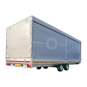Huifdoek 606x220x200cm 6022-Z-SFZ-20-7500 ten behoeve van huif met schuifzeil voor Eduard plateauwagen of multitransporter met een laadbak van 606x220cm. Hoogte 200cm gemeten vanaf de laadvloer. Kleur van het huifdoek is 7500 grijs.