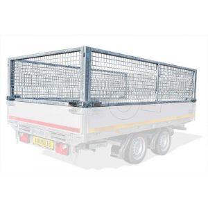 Loofrek 260x180 (lxb bak) 70cm hoog voor Eduard plateauwagen of multitransporter met borden