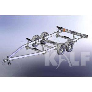 Kalf stallingstrailer Stall 2700 met spatborden 650x200 cm 2700 kg