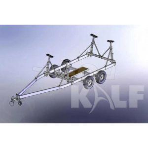Stallingstrailer met spatborden voor kielboot 650x200 cm 2700 kg
