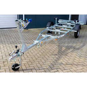 """Waterscootertrailer basic 600-50 K kantelbaar 500x160 (lxb), bruto 600kg (450 netto), met waterscooterpakket, banden 13"""", enkelas"""