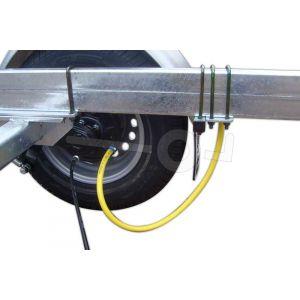 Spoelsysteem voor Kalf geremde enkelas boottrailer