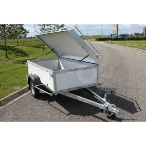 Verhuur bagagewagen, bakafmeting 200x125x60 (lxbxh), week