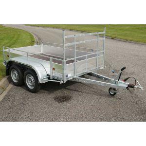 Powertrailer aluminium open bakwagen tandemas 257x132cm 1500kg