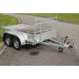 Open aanhangwagen met aluminium borden 257x132cm 2000kg