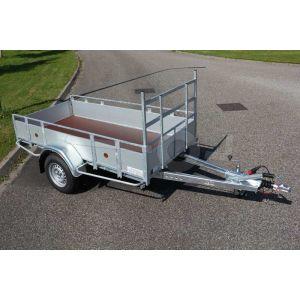 Powertrailer open bakwagen met aluminium borden 257x132cm 1350kg