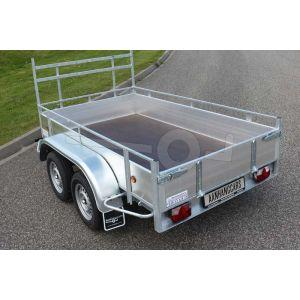 Open bakwagen met aluminium  borden 257x150cm 750kg enkelas ongeremd
