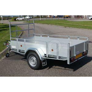 Open bakwagen met aluminium borden Powertrailer 307x150cm 1350kg
