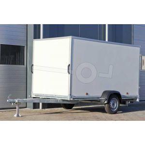 Powertrailer gesloten aanhangwagen met kunststof wanden 225x125x156 cm 750kg ongeremd