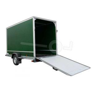 Optionele achterklep 150x180cm in plaats van twee achterdeuren Power Trailer gesloten aanhangwagen.