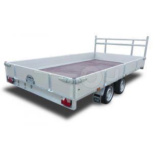 Powertrailer plateauwagen 254x157cm 750kg ongeremd