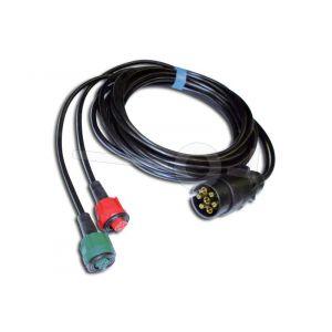 Kabelset Radex 6mtr. + 7 polige stekker met connectors