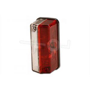 Breedte / zij-markerings licht 115x45mm. rood/wit
