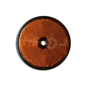 Reflector rond, oranje 60mm. schroef