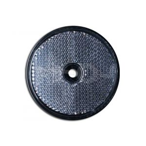 Reflector rond, wit 60mm. schroef